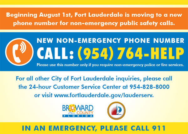 New non-emergency number for fire and police starts AUGUST