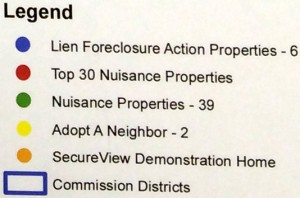 legend for foreclosure map