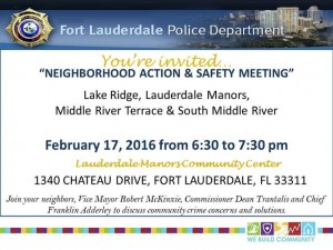 neighborhood action and safety meeting 2-17-16