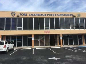 police substation sign