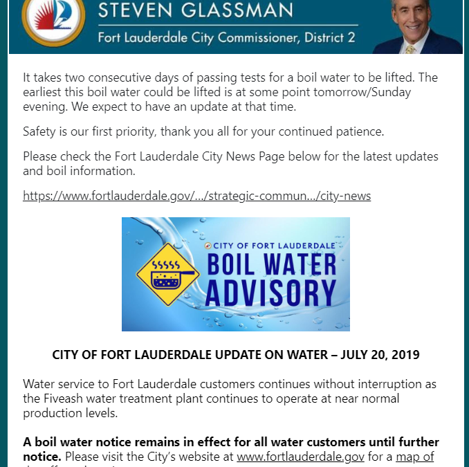 Water distribution at the following City sites resumed this morning at 8 a.m. Th…