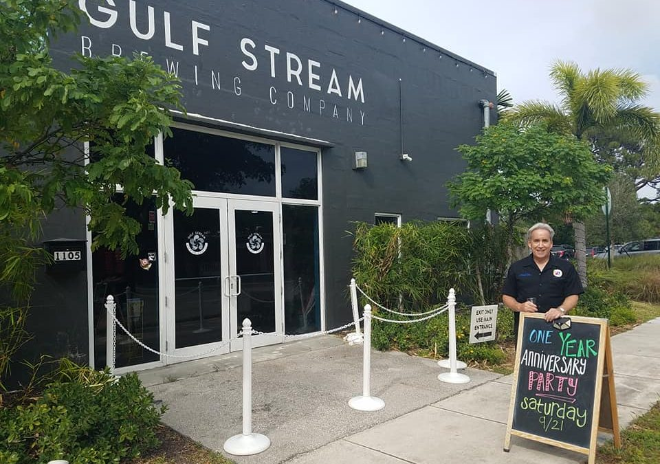 Congratulations to Gulf Stream Brewing Company on their 1 year anniversary!  Gla…