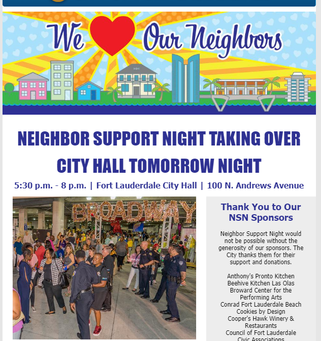 Join your neighbors tonight, 2/13th!