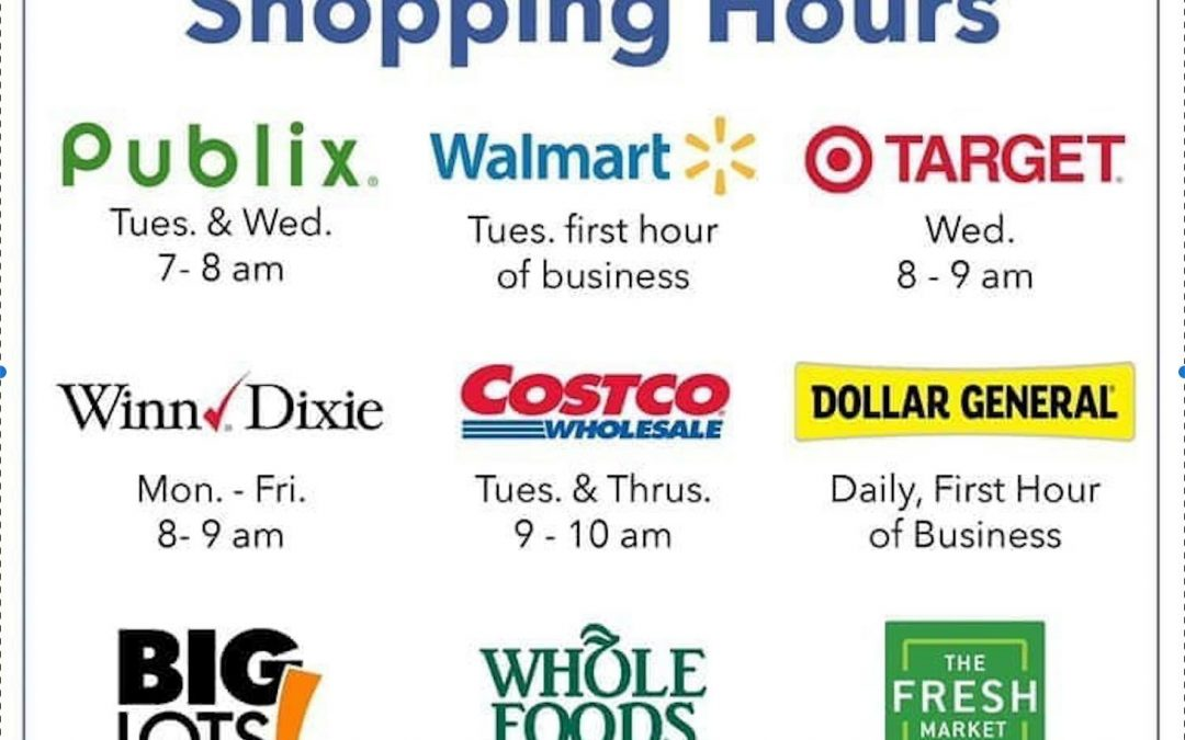 Senior shopping hours locally for your reference!